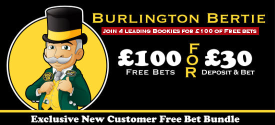 Bet £30 and get £100 of free bets for new bookmaker customers promotion