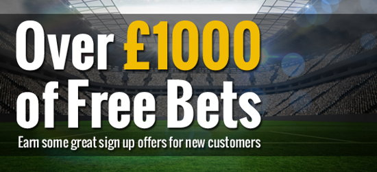 new customer free bet sign up promotions