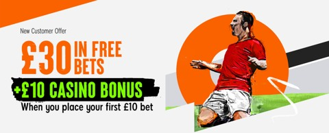Bet 10 Get 30 sportsbook new customer promotion