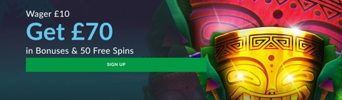 casino wager 10 get 70 new customer bonus