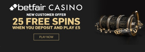 betfair casino 25 free spins deposit 5