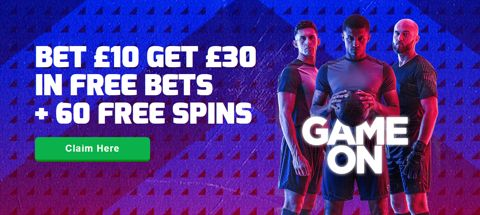 new customer bet 10 get 30 free bet 60 free spins