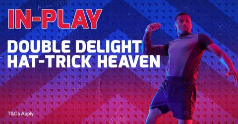 In-play Double Delight Hat-trick Heaven eligible games