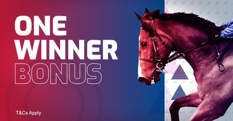 Bonus paid on one correct winner for permuatation bets