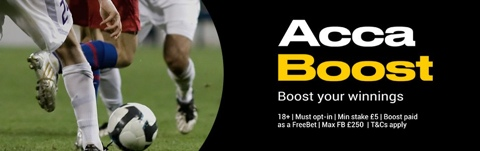 football accumulator boost offer