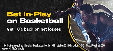 Basketball in-play money-back