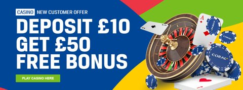 coral casino bet 10 get 50 welcome promo