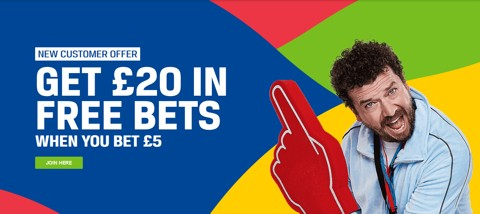 new customer coral bet 5 get 20 promotion