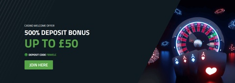 casino bet 10 50 offer