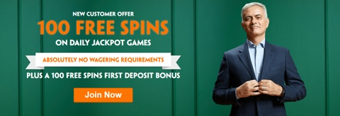 100 free spins new customer welcome promo