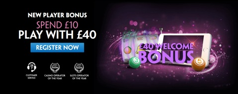 spend 10 get 40 bingo new customer promo