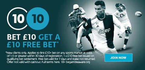 Sportsbook new customer promo at Sporting Index