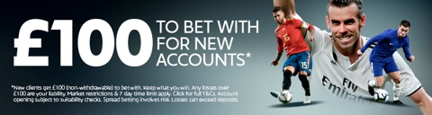 new customer spreadbetting promotion