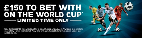 world cup 150 new customer promo