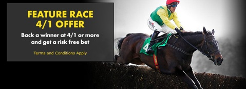 feature race racing risk free bet