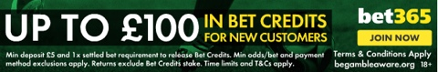 new customer bet credits bet365 promotion