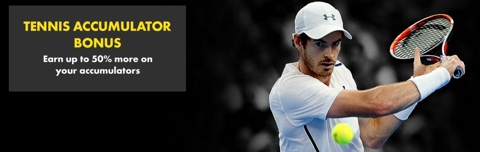 tennis accumulator bonus up to 50