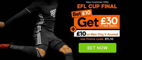 efl cup final new customer promotion